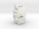 skull ring in White Strong & Flexible