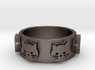 Ring of Seven Cats Ring Size 7 in Stainless Steel