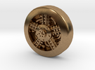 Aviation Button - Radial Engine in Raw Brass