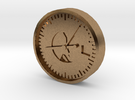 Aviation Button - Altimeter in Raw Brass