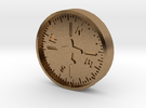 Aviation Button - Heading Indicator in Raw Brass