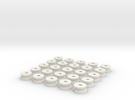 Low Profile AAA-Cell Battery Base (25) in White Strong & Flexible