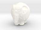 Kugelelephant in White Strong & Flexible Polished