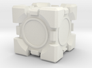 Companion Cube 10x10mm in White Strong & Flexible