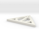 Deathly Hallows Symbol in White Strong & Flexible