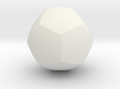 Curved Face Dodecahedron - Small in White Strong & Flexible