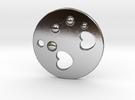 Love Disk V2 30mm in Polished Silver