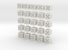 Building Block 1x1 (x25) in White Strong & Flexible