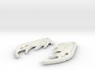 Dragon Wing Earrings in White Strong & Flexible