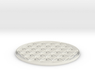 Flower of life - Blume des Lebens 80x2mm in White Strong & Flexible Polished