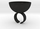 Shot Ring in Black Acrylic