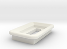MicroUSB Square Bezel w/ LED hole in White Strong & Flexible