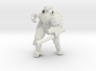 Mech suit with twin weapons. (7) in White Strong & Flexible