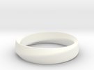 Mobius Ring in White Strong & Flexible Polished