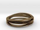 Anello bronzo misura7 in Raw Bronze