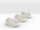 Fantasy Fleet Mortar Boats in White Strong & Flexible