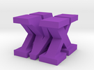 MX Sculpture in Purple Strong & Flexible Polished