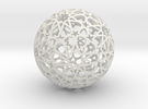 Islamic star ball with ten-pointed rosettes in White Strong & Flexible