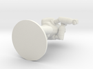 Combat Shell, 70mm, Flat Base in White Strong & Flexible