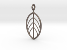 Apple Leaf Pendant in Stainless Steel