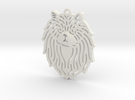 Cute pet pendant in White Strong & Flexible