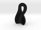 Left-Hand Half Klein Bottle 9.85 in tall in Black Strong & Flexible