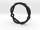 Ichthus Fish Ring in Black Strong & Flexible