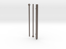 """4"""" GEET Reactor Rod + two Rod stops  in Stainless Steel"""