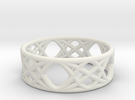 Sine Ring Flat in White Strong & Flexible