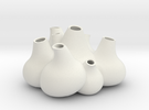 NLpro Flower bulbs groupe(3mm)ceramic in White Strong & Flexible