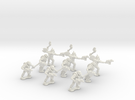 15mm Greenskin Grunts (x9) in White Strong & Flexible