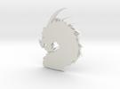 Dragon Pendant in White Strong & Flexible