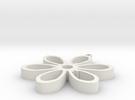 Flower Pendant in White Strong & Flexible