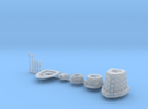 Dalek Standard Sprue type016c (x1) in Frosted Ultra Detail