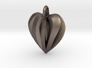 Twisted Heart Pendant in Stainless Steel