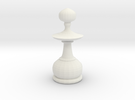 Smaller Staunton Pawn Chesspiece in White Strong & Flexible