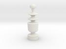 Smaller Staunton Queen Chesspiece in White Strong & Flexible