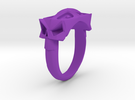 Facet Skull Gth in Purple Strong & Flexible Polished