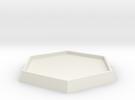 "1 5/6"" Diameter Hex Base in White Strong & Flexible"