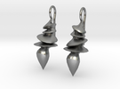 Sculpted Earrings in Raw Silver
