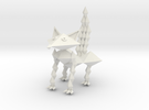Fox Figurine by Ruben Aguilar in White Strong & Flexible