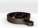 @ Keychain/Necklace in Matte Bronze Steel