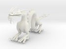 "6"" Chinese Dragon Pose1 in White Strong & Flexible"