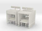 Modern Railway Station Furniture 1:148 N Gauge in White Strong & Flexible
