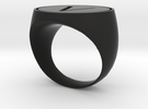 V Ring in Black Strong & Flexible