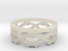 Bones Crown Design Ring - Size 10 in White Acrylic