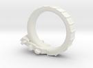 Folk Guitar Ring Size 6 (US) in White Strong & Flexible