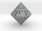 36-Sided Die 2d6 in Polished Metallic Plastic