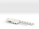 1:160/N-Scale 2+4 Axle Semitrailer in White Strong & Flexible