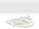 Grey Dawn Symbol 3hx2.5w in White Strong & Flexible